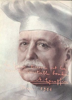 Auguste Escoffier ~ French chef, restaurateur and culinary writer who popularized and updated traditional French cooking methods.