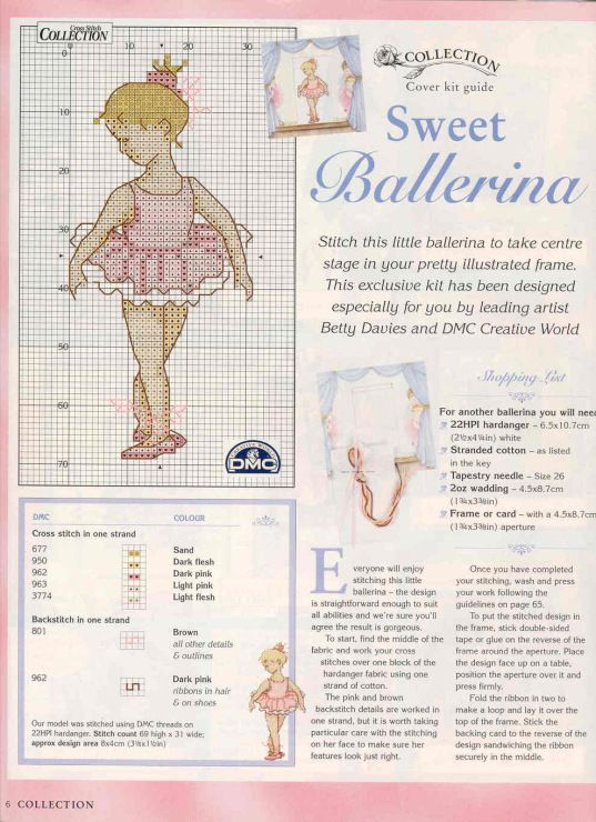 Gallery.ru / Фото #3 - 062 - anfisa1 / Cross Stitch Collection 62 / Sweet Ballerina 2/2