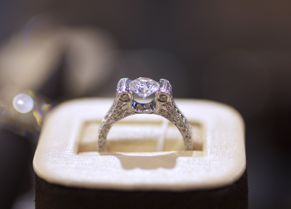 Beaudry diamond engagement ring with open profileEngagement Ring