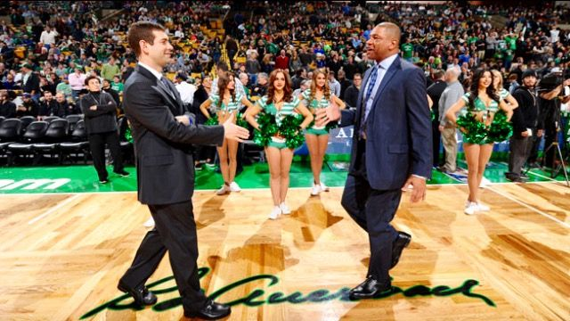 Two great Celtic Headcoaches. C's Headcoach Stevens and his predecessor, Doc Rivers.