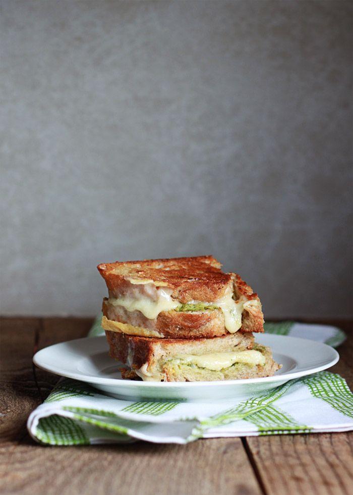 Artichoke Arugula Pesto Grilled Cheese | La Nourriture ...
