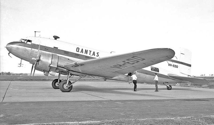 Qantas operated many DC-3s over the years, mostly on their New Guinea Internal services, which were taken over  by TAA in 1960.  From then on, Qantas had just two DC-3s VH-EDC & VH-EDD. used mostly for pilot training and occasional engine transport. Here's VH-EDD at Dubbo NSW in September 1968 during a crew training sortie. Image Geoff Goodall