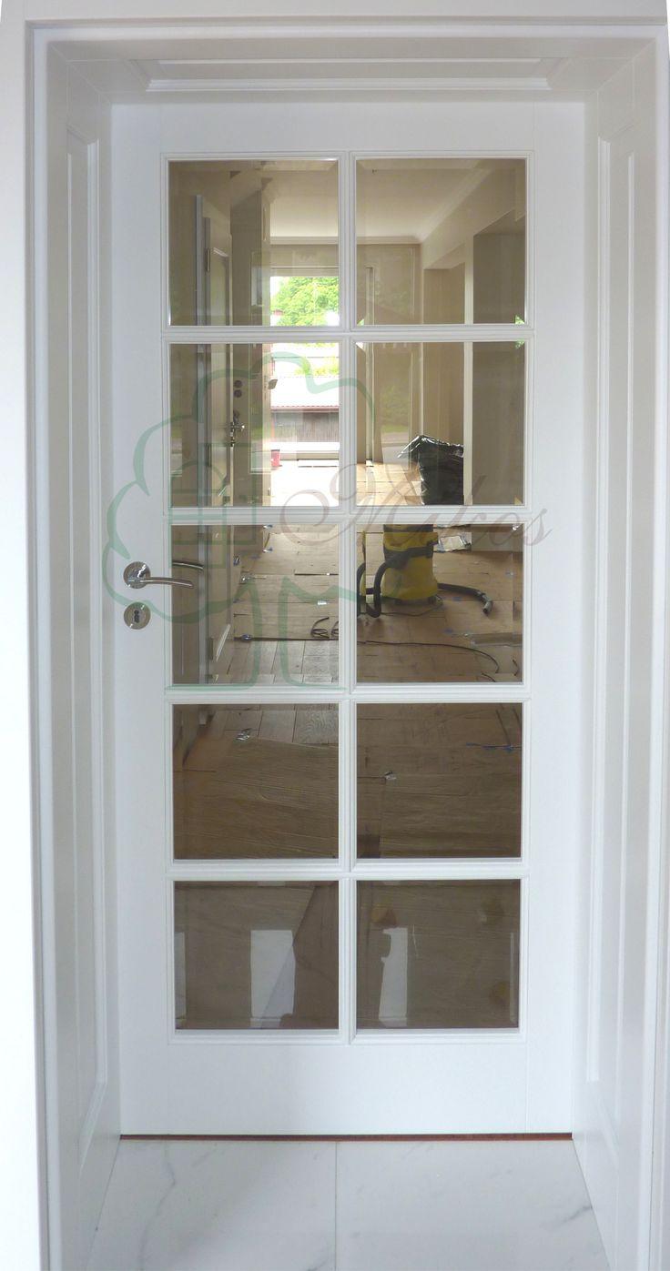 Drzwi wewnętrzne białe szklone S10