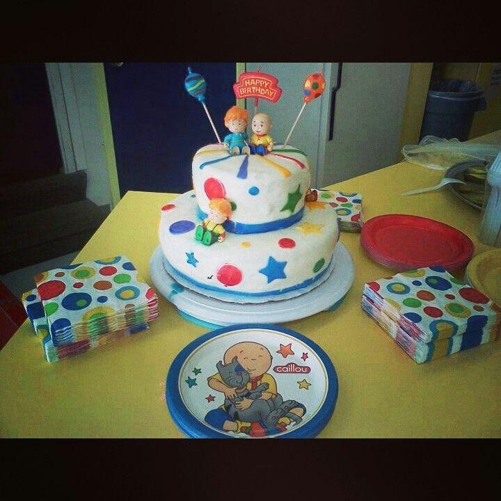 Caillou Themed Birthday Cake