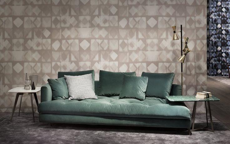 ALCOVE SOFA!! Milano 2017, Thanks! #salonedelmobile #milano  @albertapf #albertamadeinitaly #interiordesign #design #furniture
