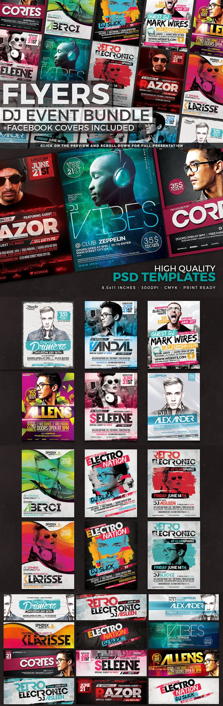 90+ Flyers Bundle + FB Covers by Zeppelin Graphics on Creative Market