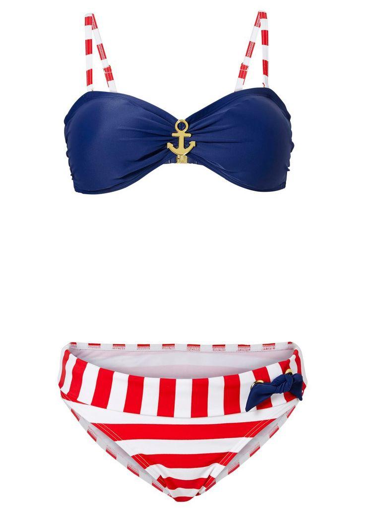 bikini w marynarskim stylu • 99.99 zł • bonprix