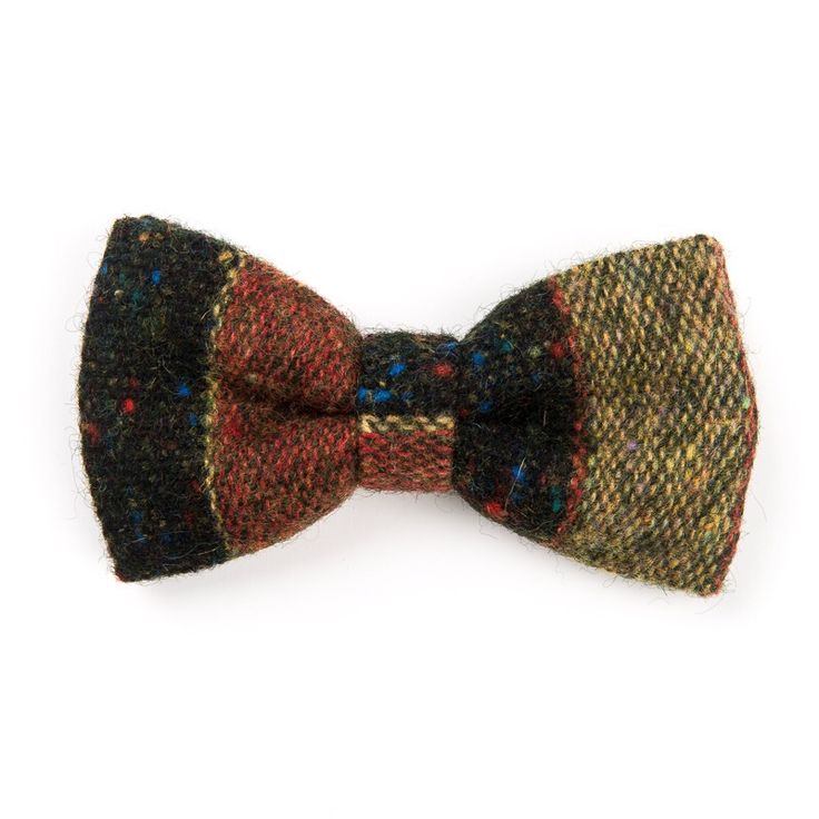 """Speckled Black"" #Donegal #tweed #bowtie. Designed and #handmade in #Ireland. FREE Worldwide Shipping!"