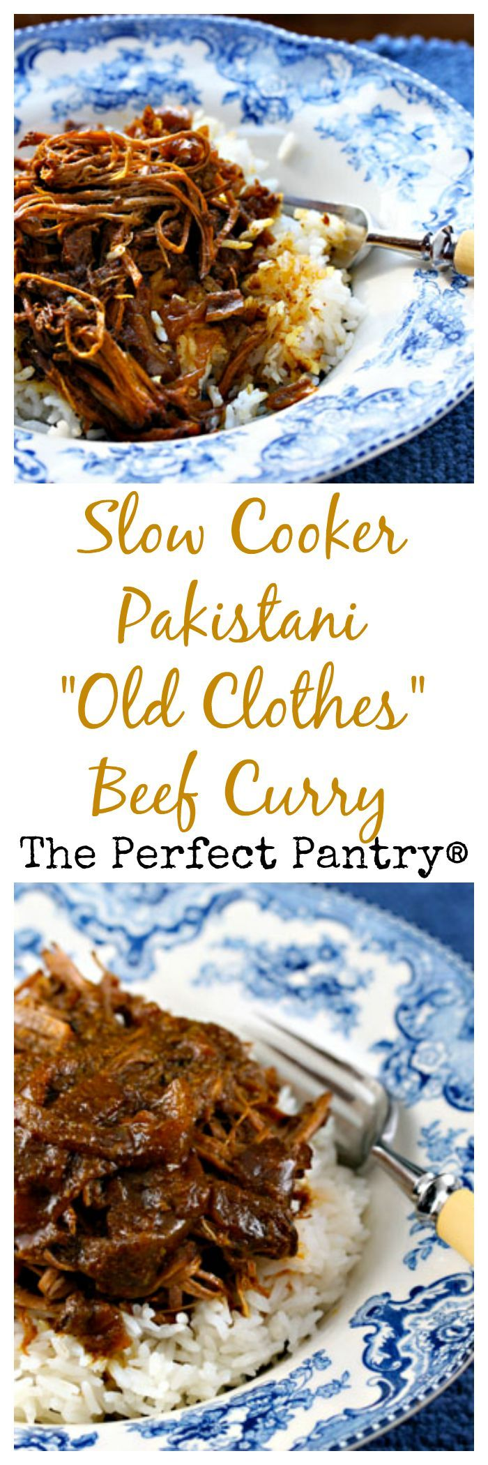 Pakistani 'old clothes' beef curry: sounds exotic, but the slow cooker makes it easy.