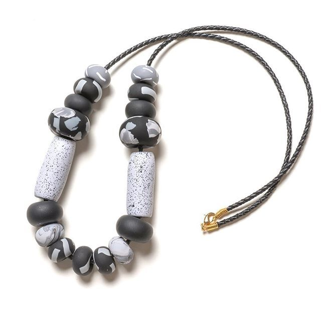 🌚This is our Noir Tape Big Bead Necklace. A bit of black for the darkest day of the year. Happy Winter Solstice 🌚#emilygreen #melbournemade #noir #wintersolstice