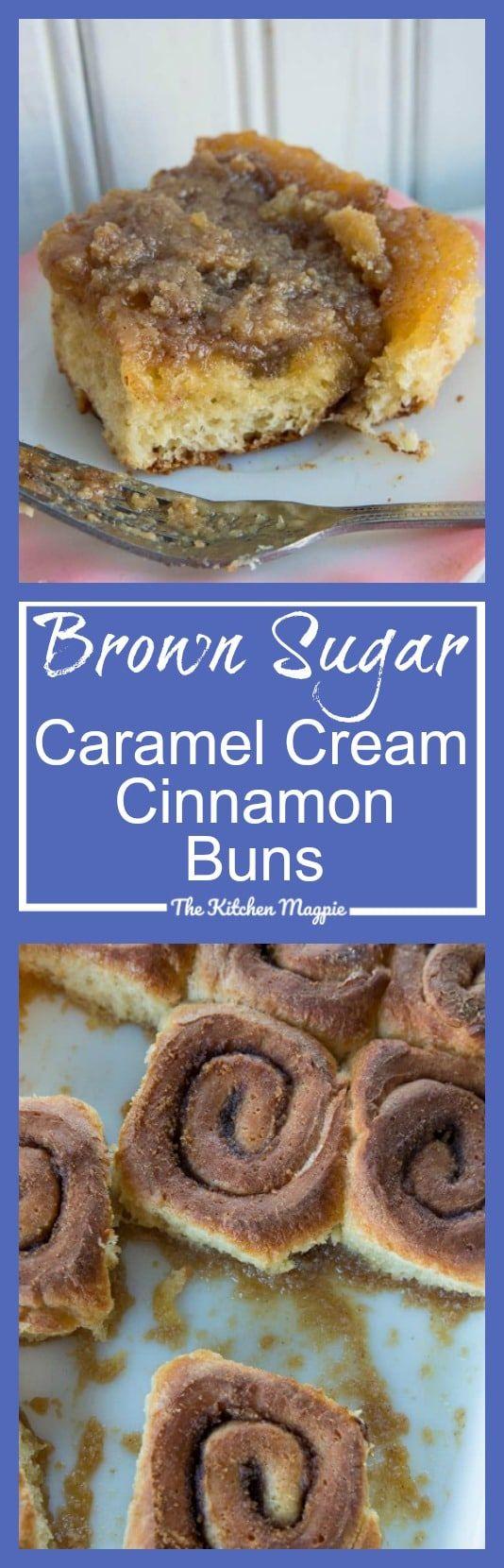 Brown Sugar Caramel Cream Cinnamon Buns - The Kitchen Magpie