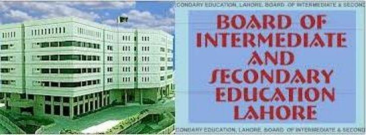 BISE Lahore Intermediate Part 2 annual result 2014