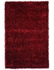 Alfombra pelo largo Glamour Rojo