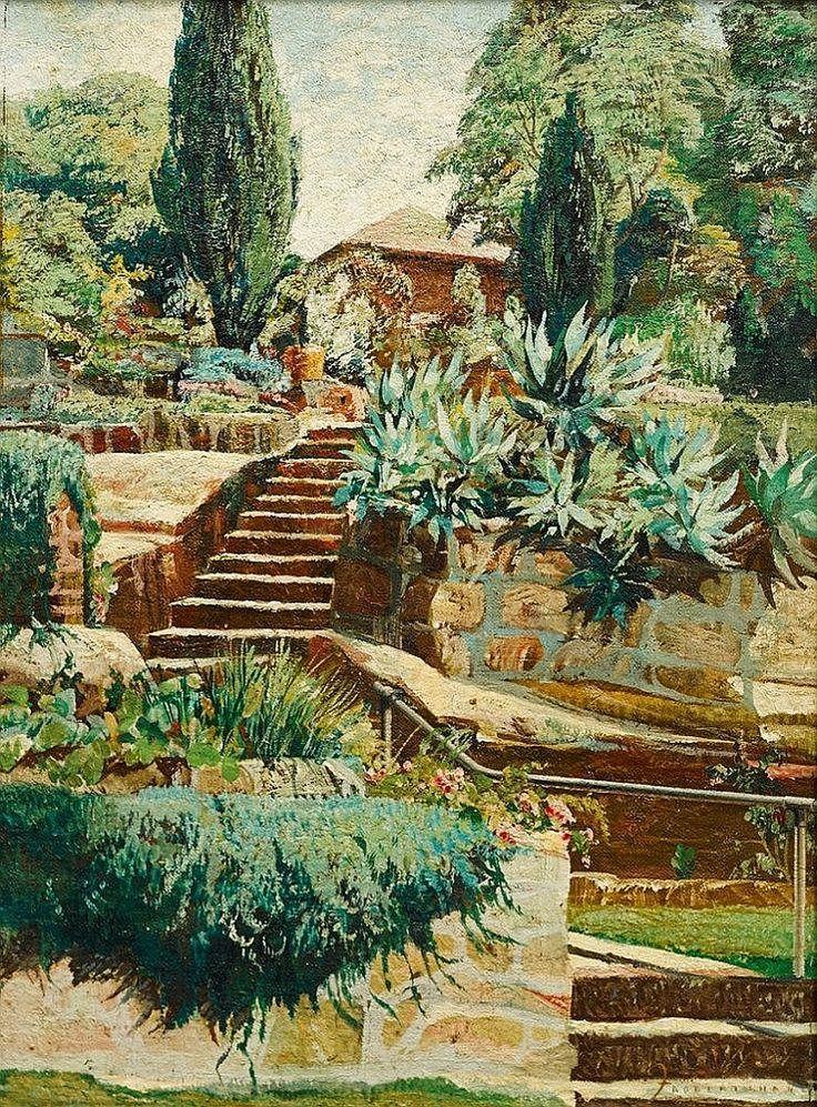 Freda Robertshaw (1917-1997) Steps to Redleaf Pool - by Shapiro Auctioneers