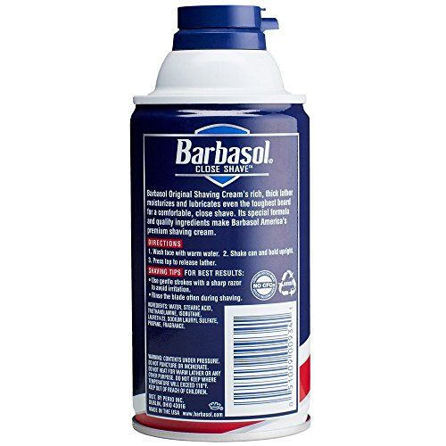 Barbasol Original Thick and Rich Shaving Cream for Men, 10 Ounce, Pack of 6