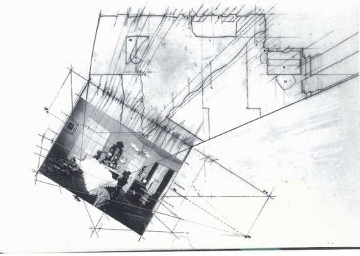 Diller and Scofidio hybrid drawing: photo, plan, perspective