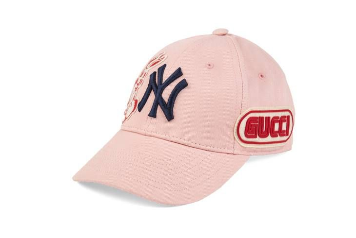 Baseball Cap With Ny Yankees Patch Womens Baseball Cap Baseball Cap Gucci