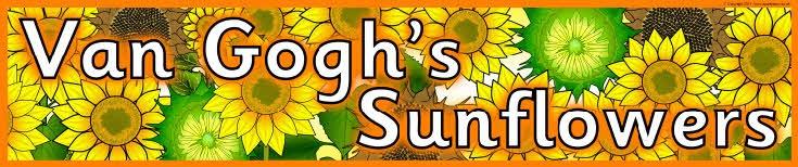 Van Gogh's Sunflowers classroom banner