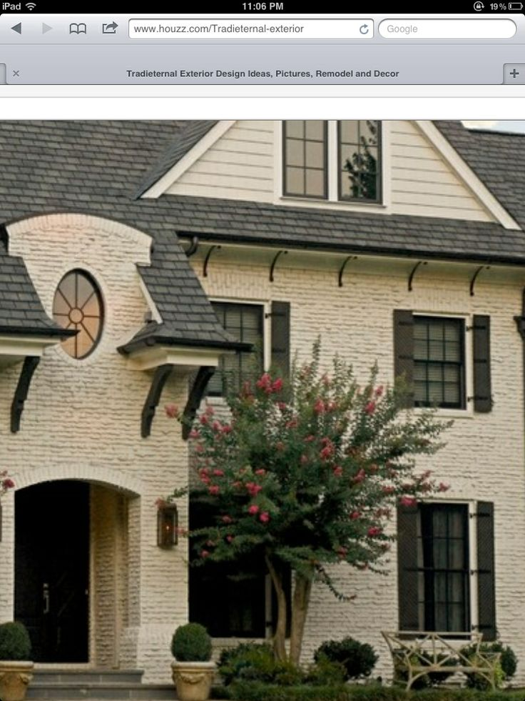 Painted brick house | Exteriors | Pinterest | Bricks ...