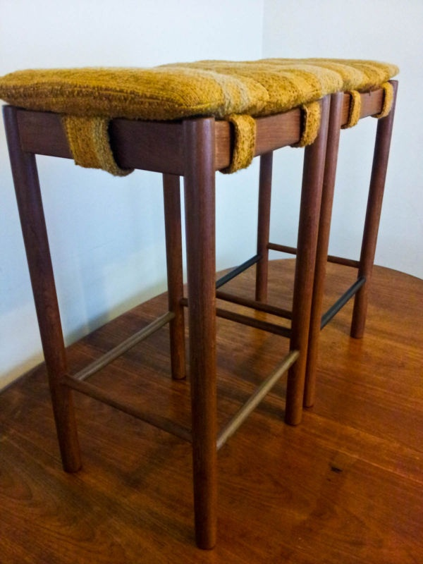 Retro Teak Danish Original PARKER Bar Stools