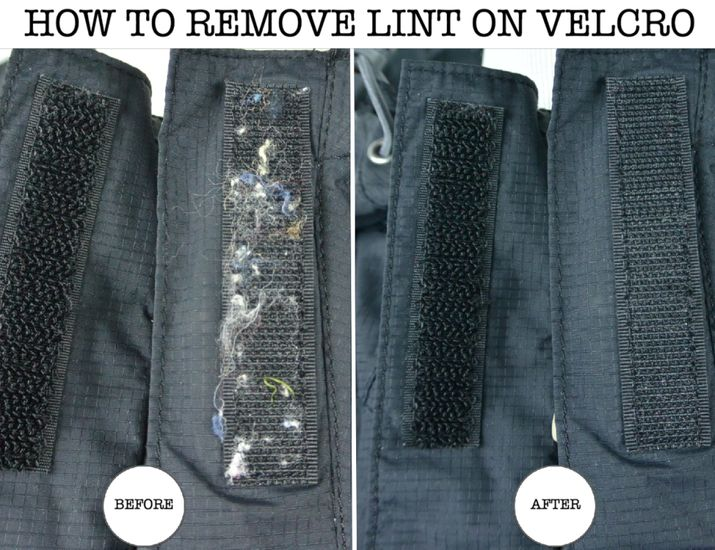how to remove lint from velcro how to clean velcro so it looks like new selling on ebay. Black Bedroom Furniture Sets. Home Design Ideas