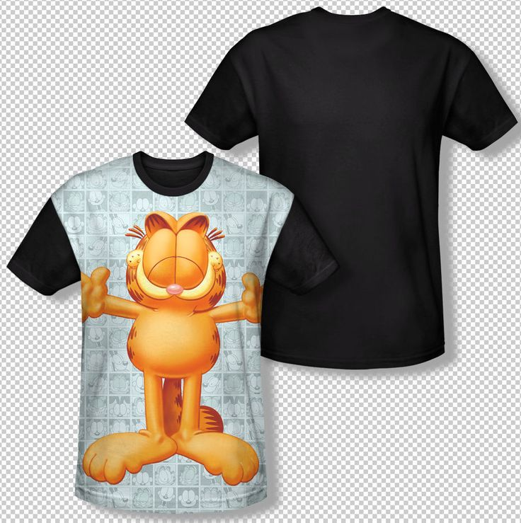 Garfield & Odie Boxed Collage Orange Cat All Over Front Sublimation T-shirt Top Mens Sizes: S, M, L, XL, 2XL, 3XL