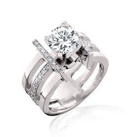 5 Carat Asscher Cut Engagement Rings