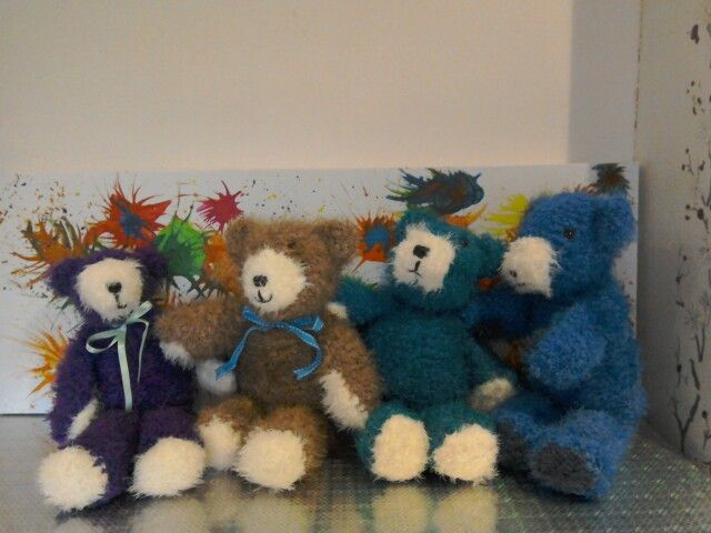 Lovely soft bears knitted by me