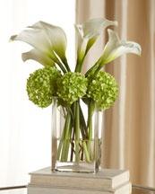 calla lily and hydrangea