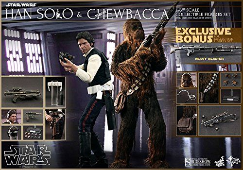 Han Solo and Chewbacca Sixth Scale Figure Set by Hot Toys -- To view further for this item, visit the image link.Note:It is affiliate link to Amazon.