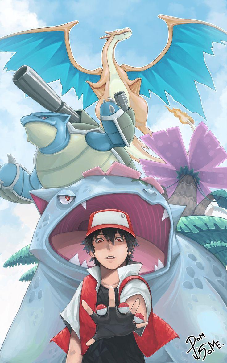 Pokemon Red Mega by maxmail25196.deviantart.com on @deviantART (Mega Charizard Y, Mega Venusaur and Mega Blastoise)