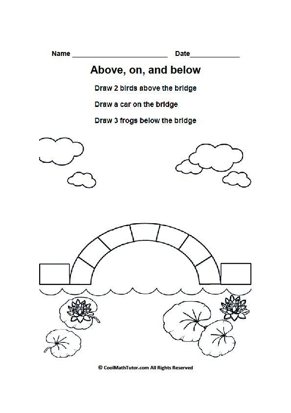 Worksheets Above On Below Part 2 In 2020 Kindergarten Worksheets Worksheets Worksheets For Kids