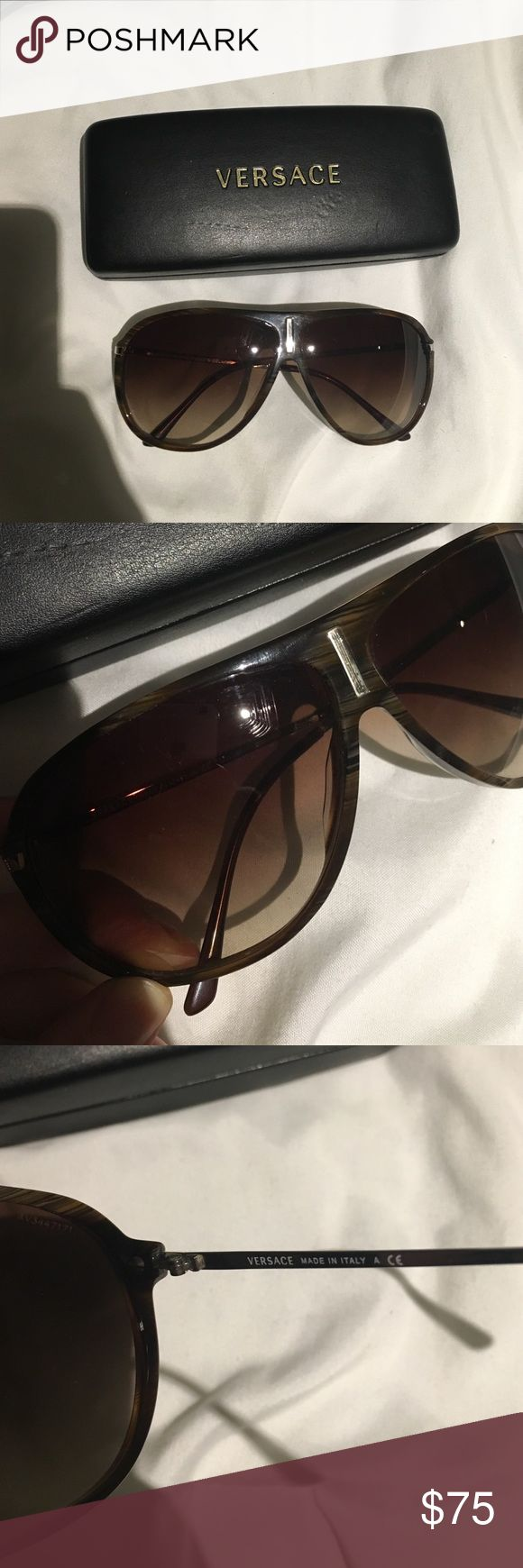 Versace aviator sunglasses Scratch on lens - may be able to replace. Versace Accessories Sunglasses