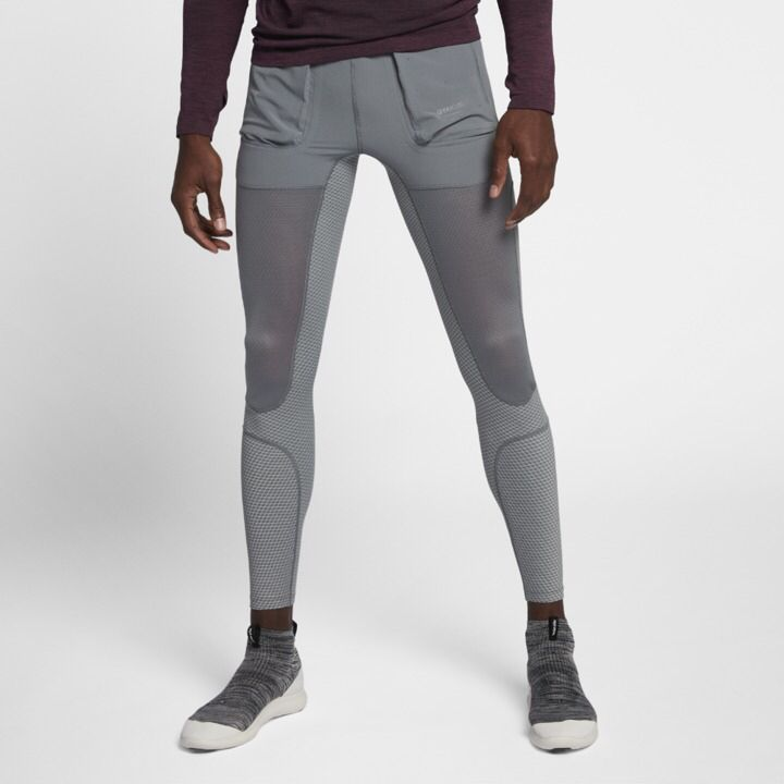 NikeLab Gyakusou Men's Utility Tights, Nike Men's Compression tights, tights with pockets, slim fit compression leggings, cold weather running, jogging tights, yoga tights, barre tights, soccer leggings, futsal leggings, gym tights, breathable, moisture wicking, athletic wear, gym wear, men's fitness, sports wear, health wear, weight loss wear, activewear, #affiliate, #ad
