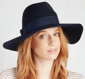 Blue Felt Women's Hat