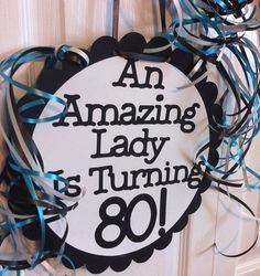 80th Birthday Party Decorations Giant Personalized Party Signs