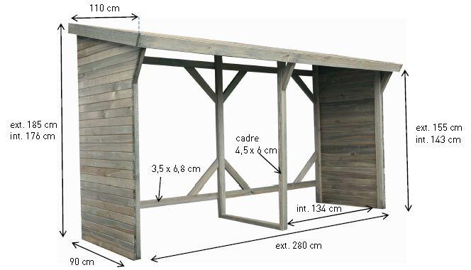 plus de 1000 id es propos de abris bois sur pinterest stockage de bois stockage de bois. Black Bedroom Furniture Sets. Home Design Ideas