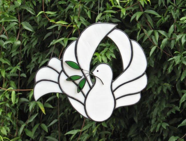 Peace Dove - Stained Glass Suncatcher. $26.00, via Etsy.