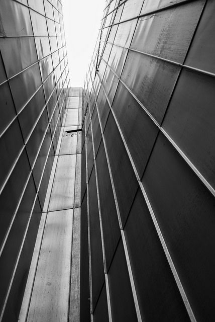 #abstract #wall #elevation of the libeskind #building in #berlin