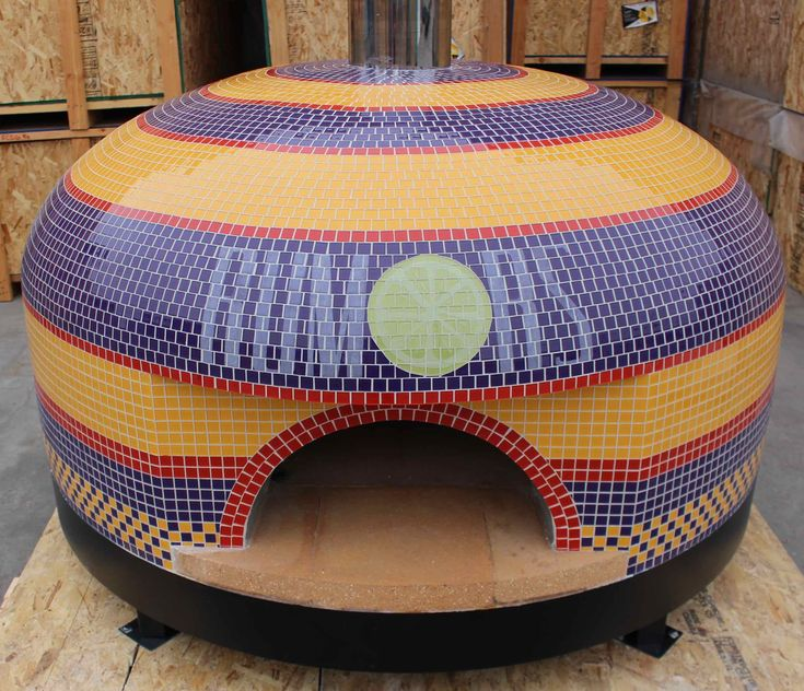 Forno Bravo offers commercial pizza ovens custom tiled to fit your restaurants decor. Choose colors, patterns, logos, we can do it all. Buy online today.