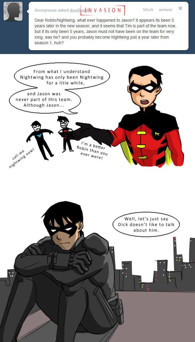 He was dead T.T >>> MAYBE THEY'LL BRING JASON AS RED HOOD INTO SEASON 3