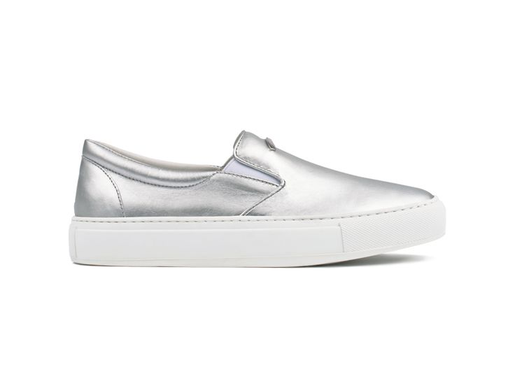 Slip On 01 Leather Silver