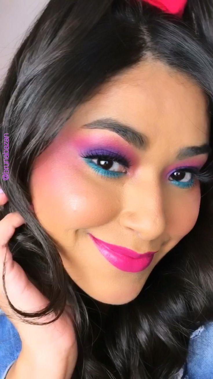 80s Eye Makeup, 1980 Makeup, 80s Makeup Looks, Retro Makeup, Eye Makeup Steps, Colorful Eye Makeup, Party Makeup, Eyeshadow Makeup, Makeup Tips
