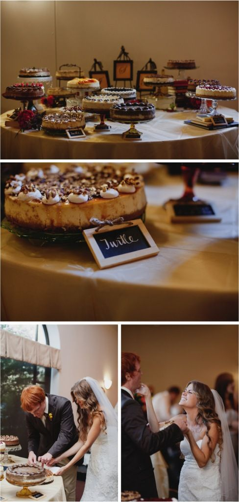 Multiple cakes and pies instead of one single, large wedding cake... hmmm...