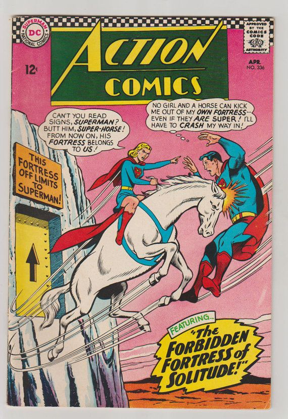 Action Comics Vol 1 336 Silver Age Comic by RubbersuitStudios #superman #supergirl #comicbooks