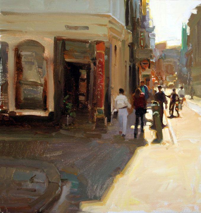 Painting by Kim English: Amsterdam Street