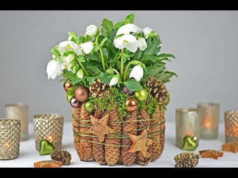 diy adventskranz im shabby chic i naturmaterial mit einem hauch wei i how to youtube. Black Bedroom Furniture Sets. Home Design Ideas