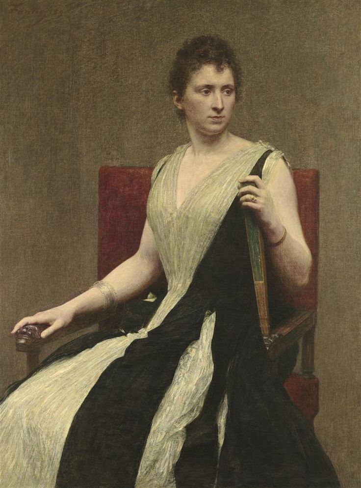 Henri Fantin-Latour, French, 1836-1904, Madame Leopold Gravier, 1889, Oil on canvas, painting