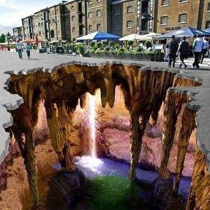 Mysterious Caves, Sokak Ressami – 3D Street Art