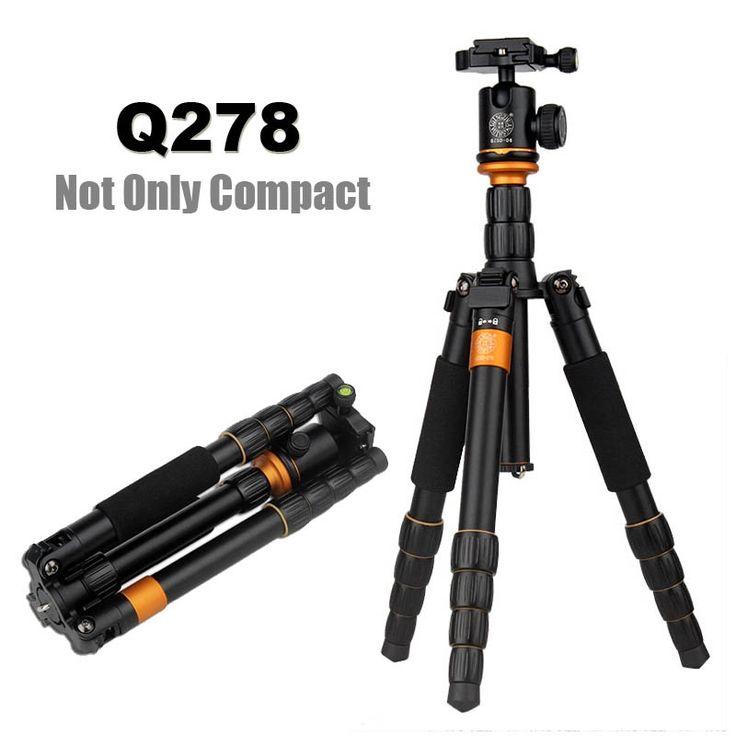 64.85$  Know more  - QZSD Q278 Lightweight Compact Tripod Monopod & Professional Ball Head for Canon Nikon DSLR Camere/Portable Reflexed Camera Stand